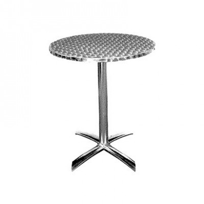 Table alu pliante - Plateau Inox