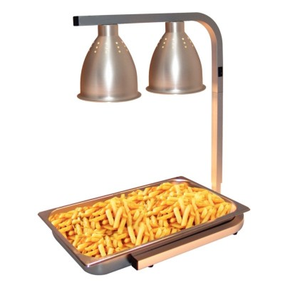 Chauffe frites double lampes infrarouges