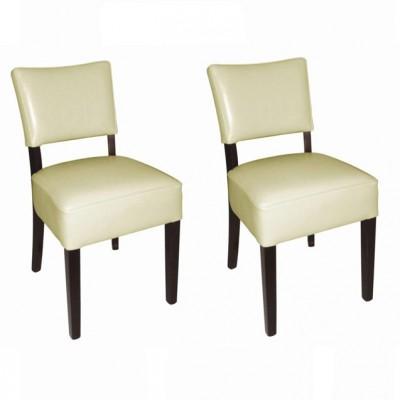 lot de 2 chaises confortables en simili cuir europrojet promocold. Black Bedroom Furniture Sets. Home Design Ideas