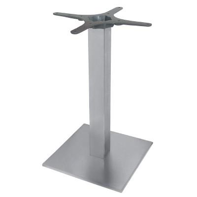 Pied de table carré en acier inoxidable