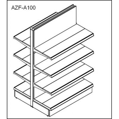 Etagères double de 100cm x 3 étagéres + 1 base 40cm