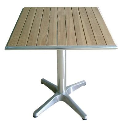 TABLE CARREE - ALU FRENE