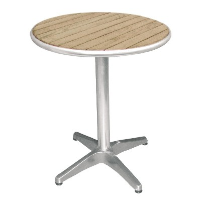 TABLE RONDE - ALUMINIUM FRENE