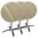TABLE RONDE PLIANTE - ALUMINIUM FRENE