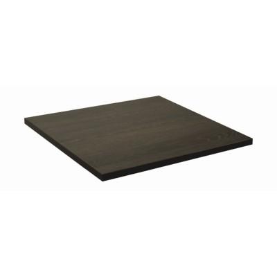 Plateau de table carré maron