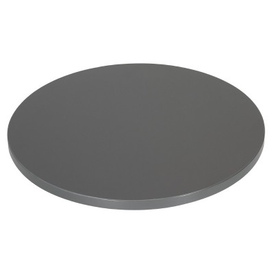 Plateau de table rond antracite