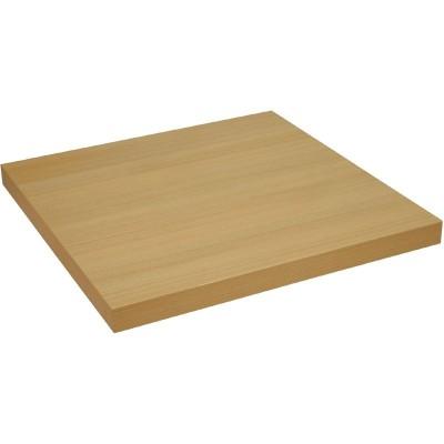 Plateau epais de table carrée Chêne 600mm