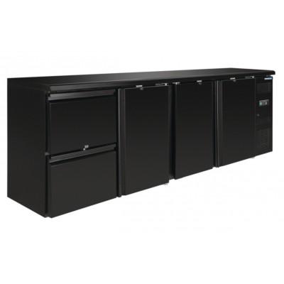 Arrière bar 3 portes 2 tiroirs