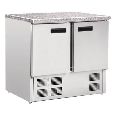 Comptoir réfrigéré positif plan de travail en marbre