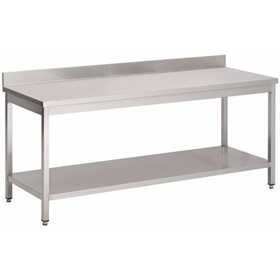 Table inox adossée P700