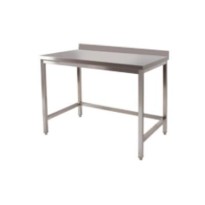 Table adossée inox P800