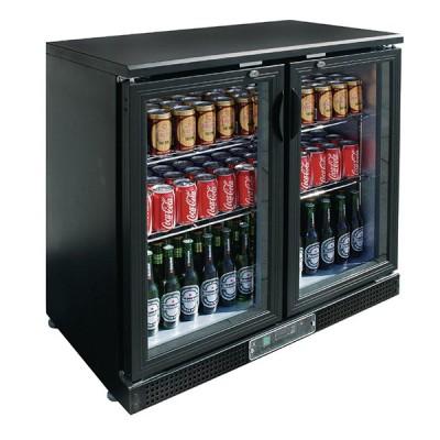Vitrine réfrigérée de bar noire