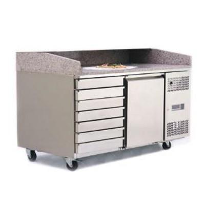 Table à pizza 400x600 1 porte + 7 tiroirs