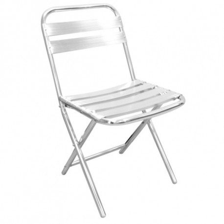 Lot de 4 chaises pliantes en aluminum