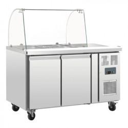 Comptoir réfrigéré GN 2 portes