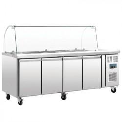 Comptoir réfrigéré GN 4 portes