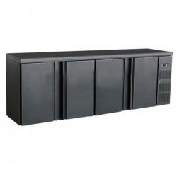 Réfrigérateur de bar noir 4 portes