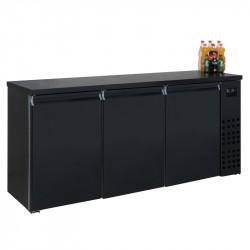 Réfrigérateur de bar noir 3 portes