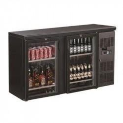 Réfrigérateur de bar noir 2 portes