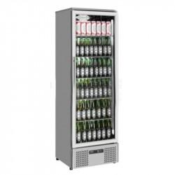 Réfrigérateur de bar vitré inox 1 porte
