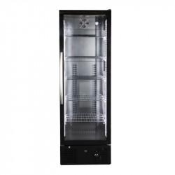 Réfrigérateur de bar vitré noir 1 porte