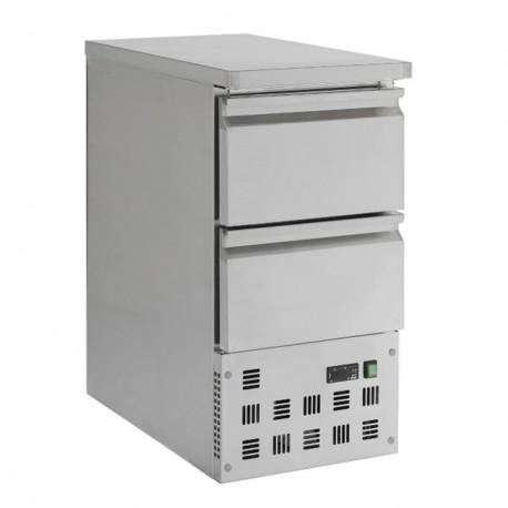 Table réfrigérée inox étoite 2 tiroirs