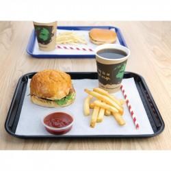 Plateaux repas noirs