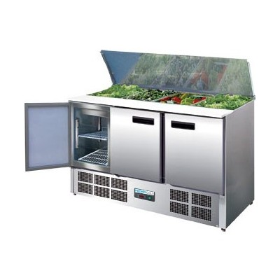 Comptoir à salade réfrigéré 3 portes