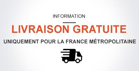 France métropolitaine : Livraison gratuite